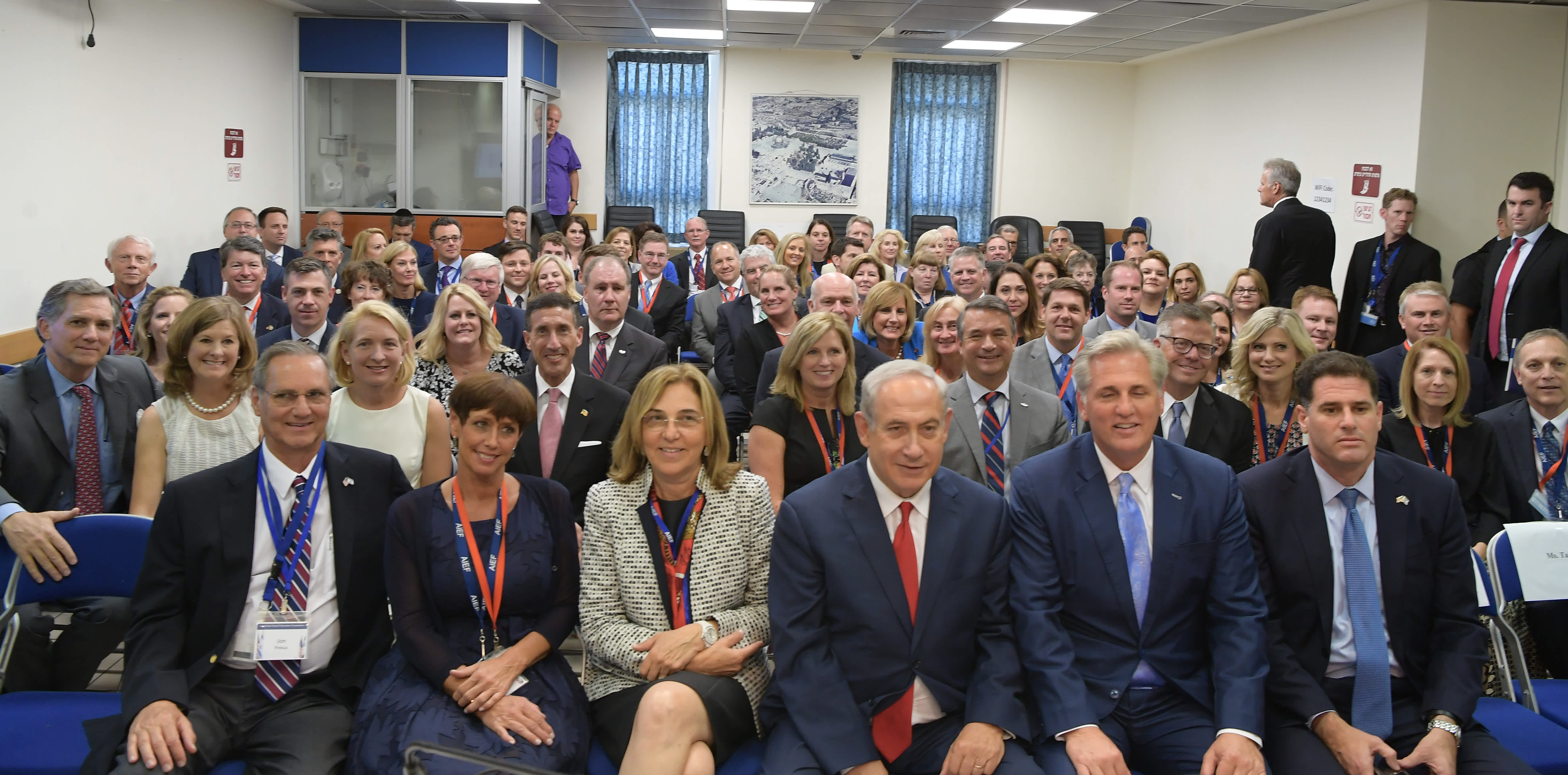Prime Minister Netanyahu met with US Congress delegation, August 10, 2017.  (Amos Ben-Gershom/GPO)