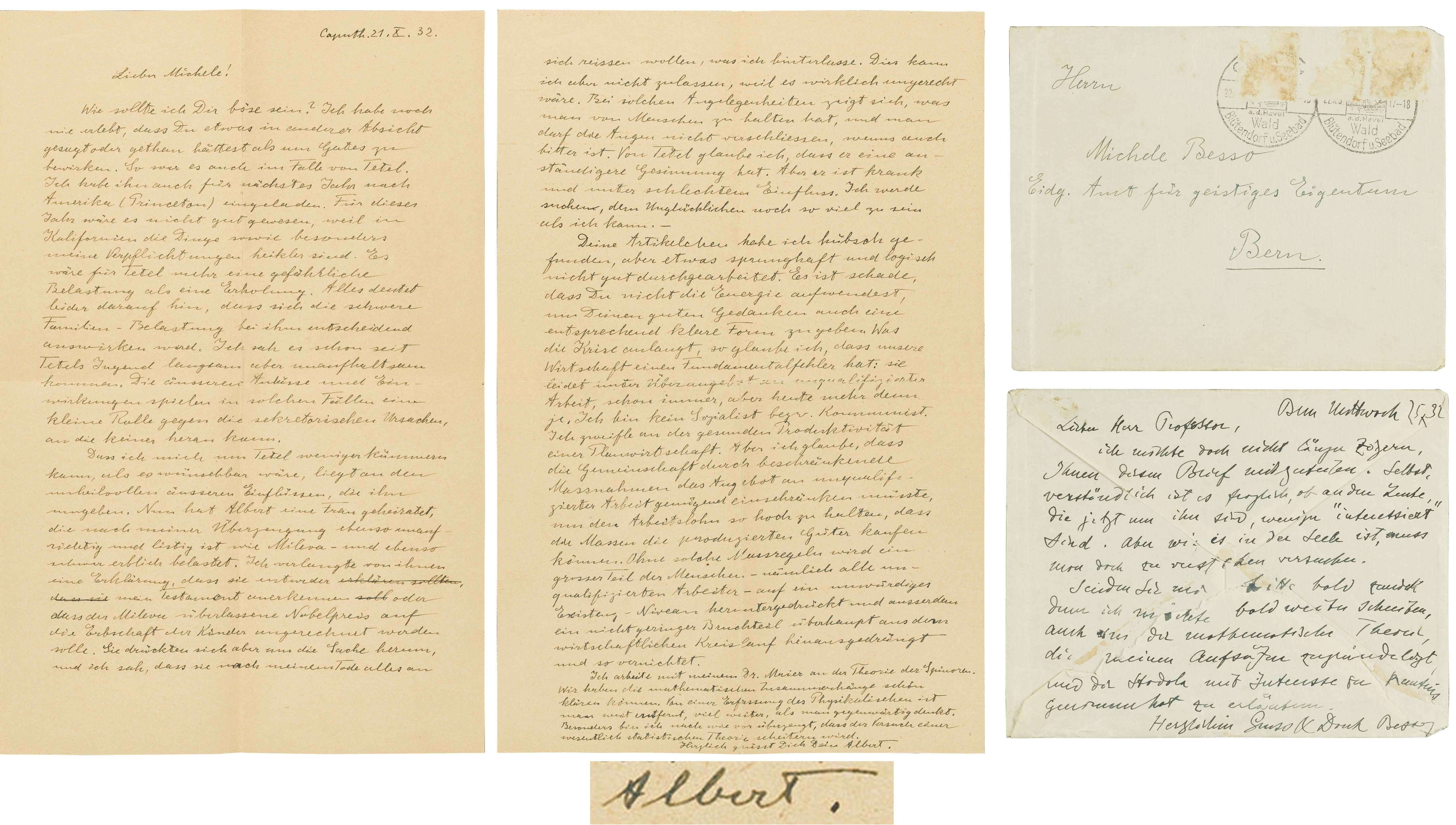 Letters written by Albert Einstein (Nate D. Sanders)
