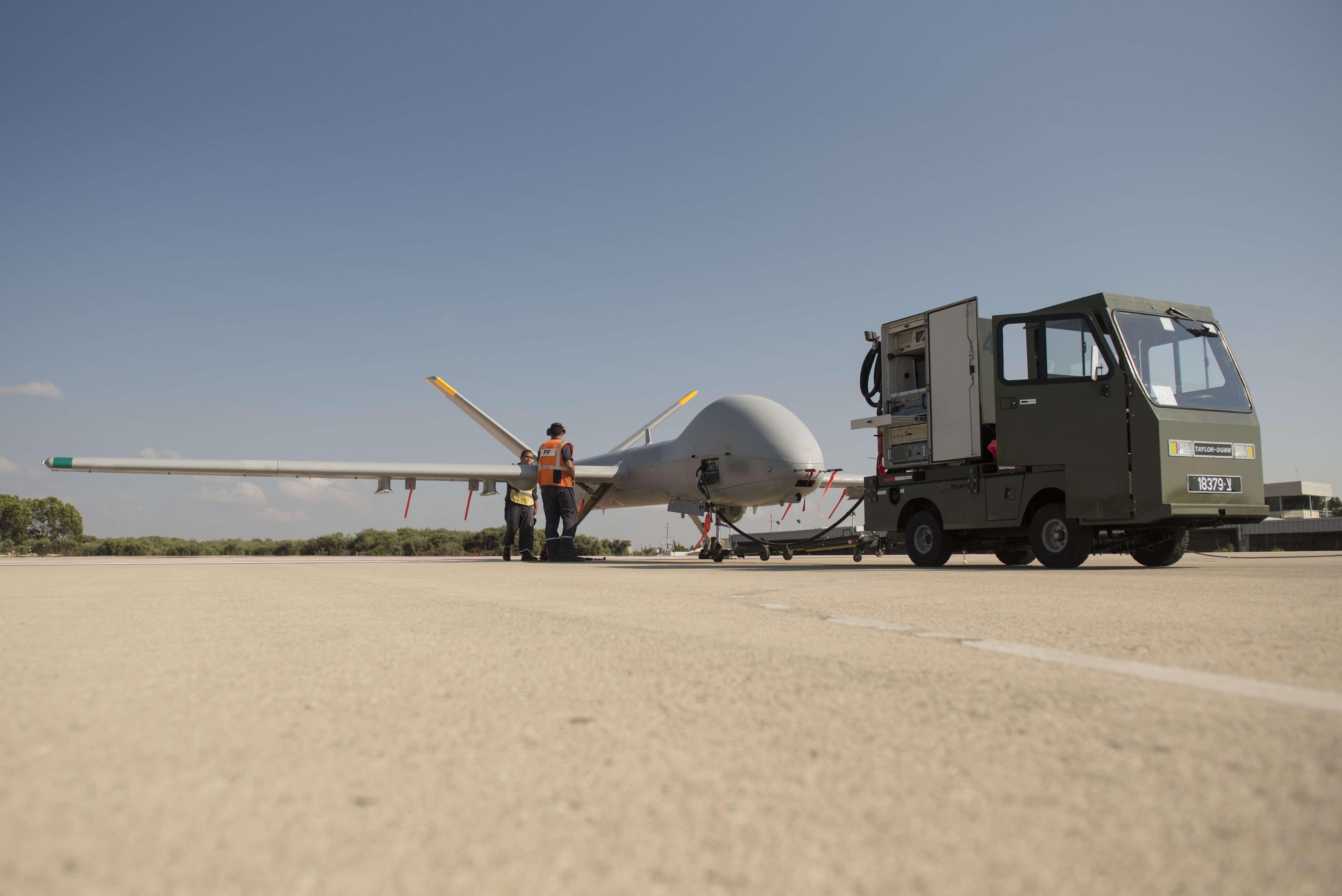 """The new IDF """"Cochav"""" drone, August 2017.  (Credit: IDF Spokesperson's Unit)"""