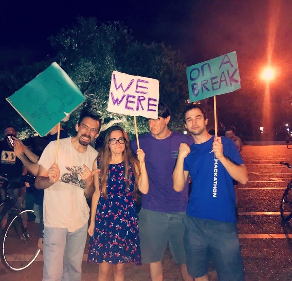 Protest held in favor of Ross Geller in Rabin Square (credit: PAIGE WILSEY)