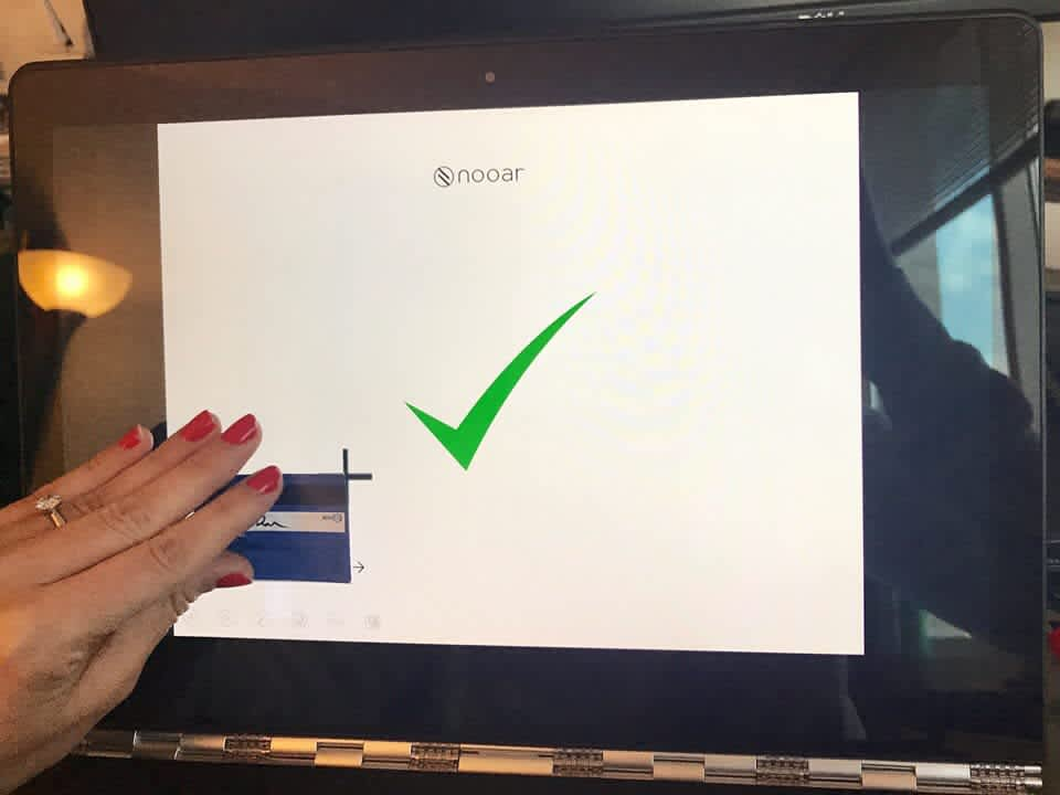 Nooar, an Israeli start-up lingerie firm, allows women to place their bra on a tablet or computer screen in order to customize the fit. (Courtesy Nooar)