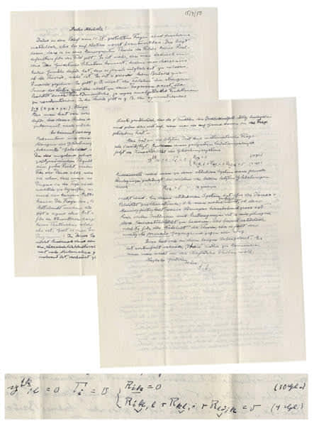 A letter written by Albert Enstein (Courtesy of Nate D. Sanders Auctions)