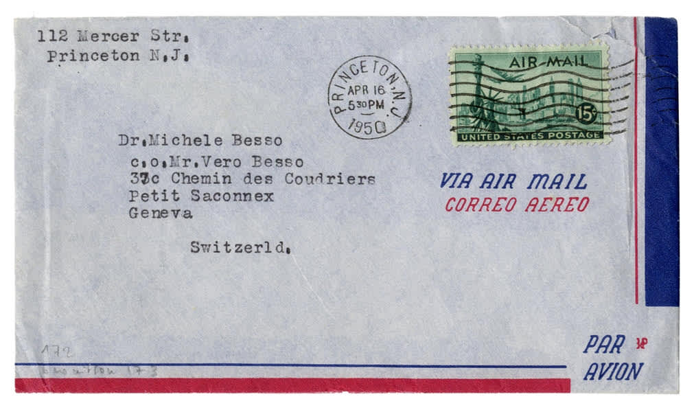 An envelope from a letter written by Albert Einstein (Courtesy of Nate D. Sanders Auctions)