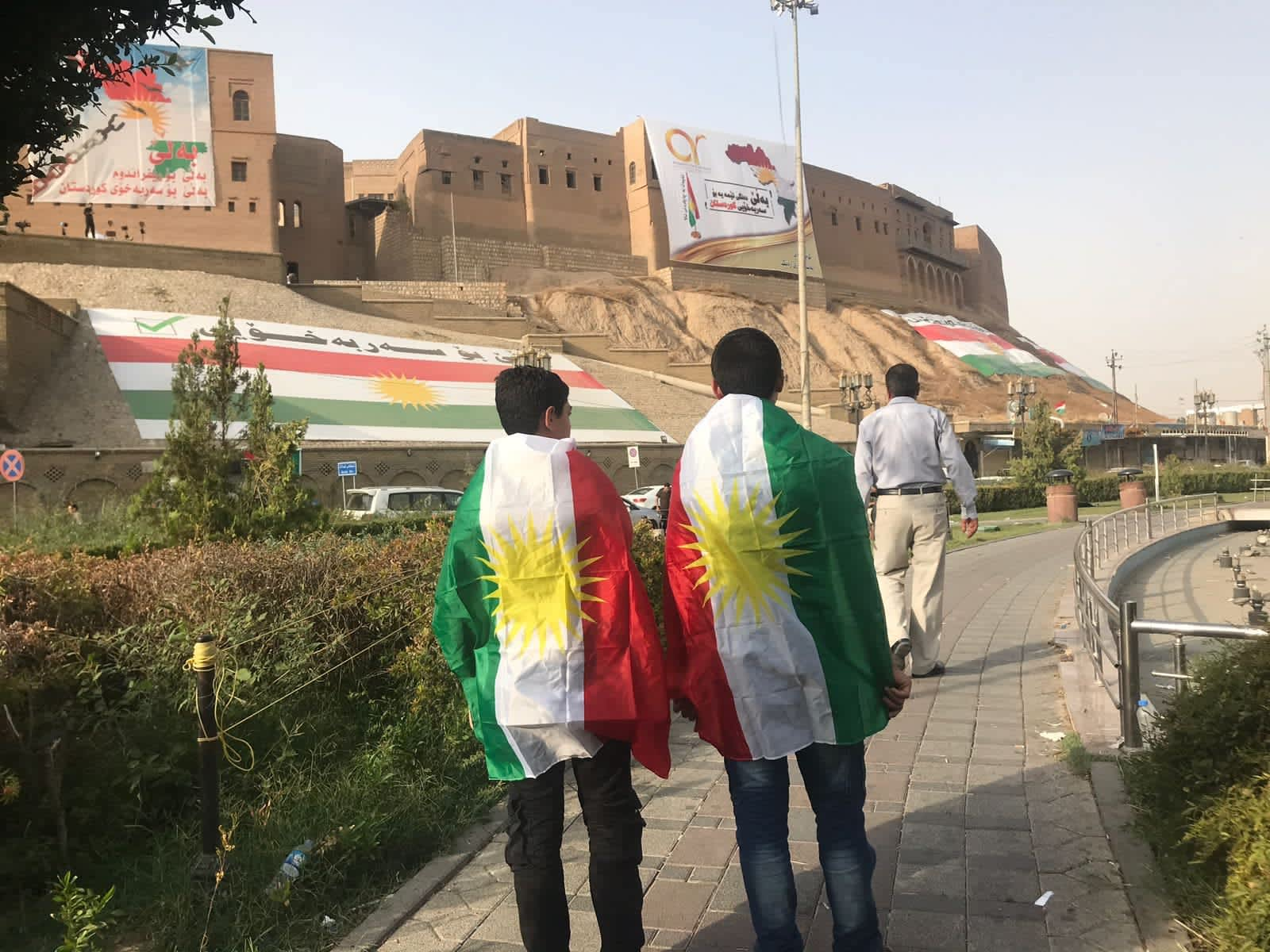 Kurds in Erbil, Iraq, on the day of the independence referendum on September 25, 2017 (SETH J. FRANTZMAN)