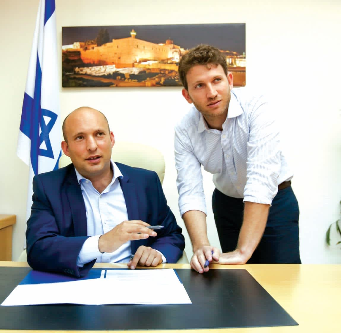 AARON KALMAN advises Education Minister Naftali Bennett on issues pertaining to diplomacy, Diaspora affairs and foreign media. He was born in Jerusalem to a mother from Toronto and a father from London. (Marc Israel Sellem)