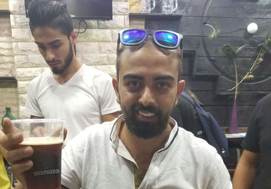 29-year-old Alaa Sayej at the Shepherds beer festival on August 19, 2019 (Credit: Adam Rasgon)