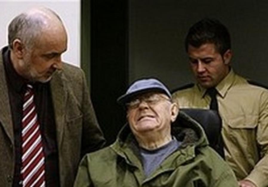 Accused Nazi death camp guard John Demjanjuk.