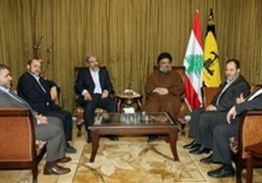 Mashaal and Nasrallah in Beirut