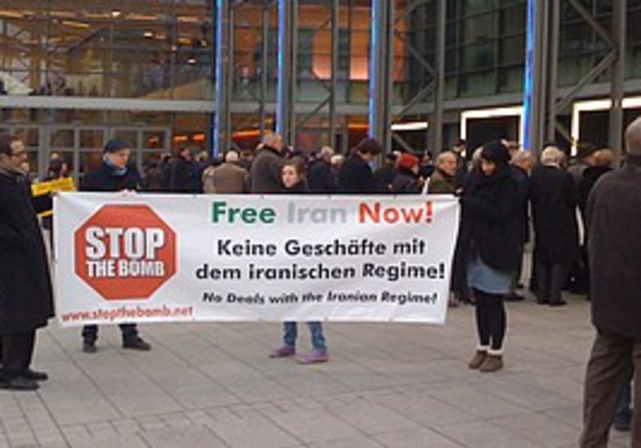 German activists hold a demonstration Thursday to