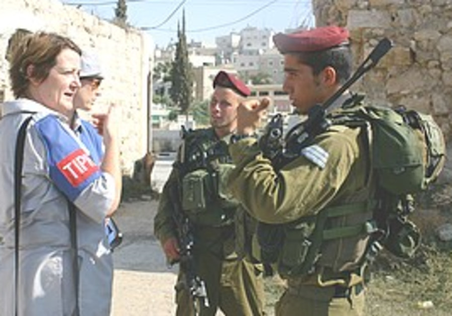 TIPH on patrol in Hebron