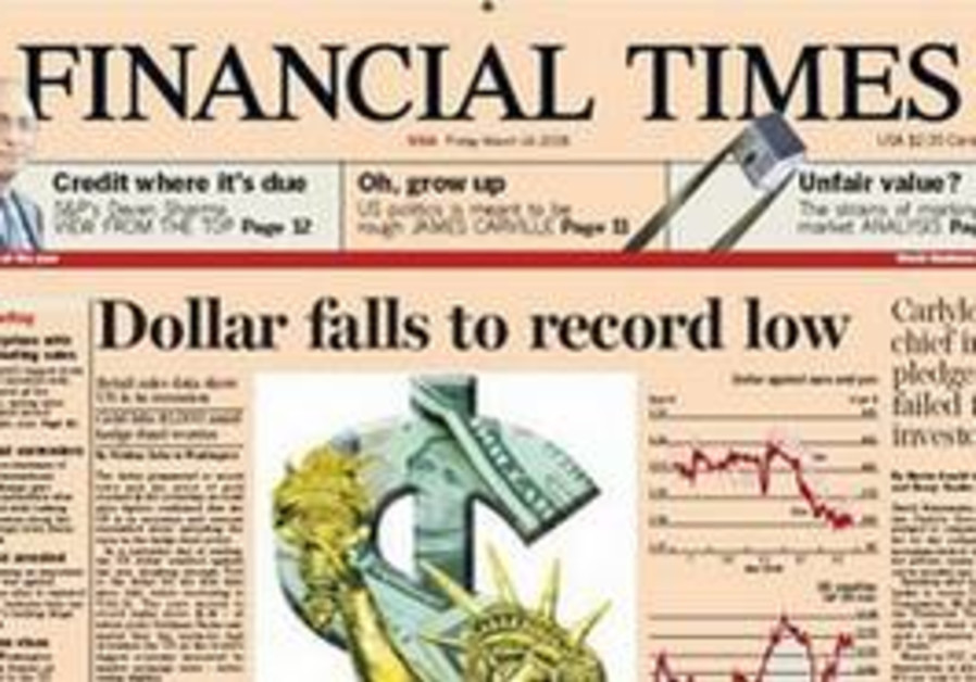 A copy of 'The Financial Times'