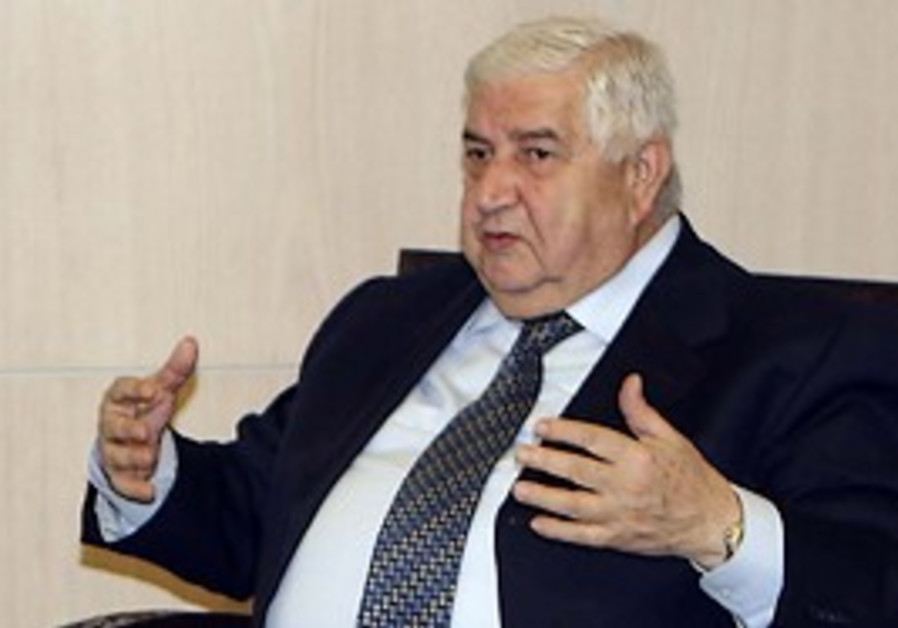 Syrian Foreign Minister Walid Moallem/