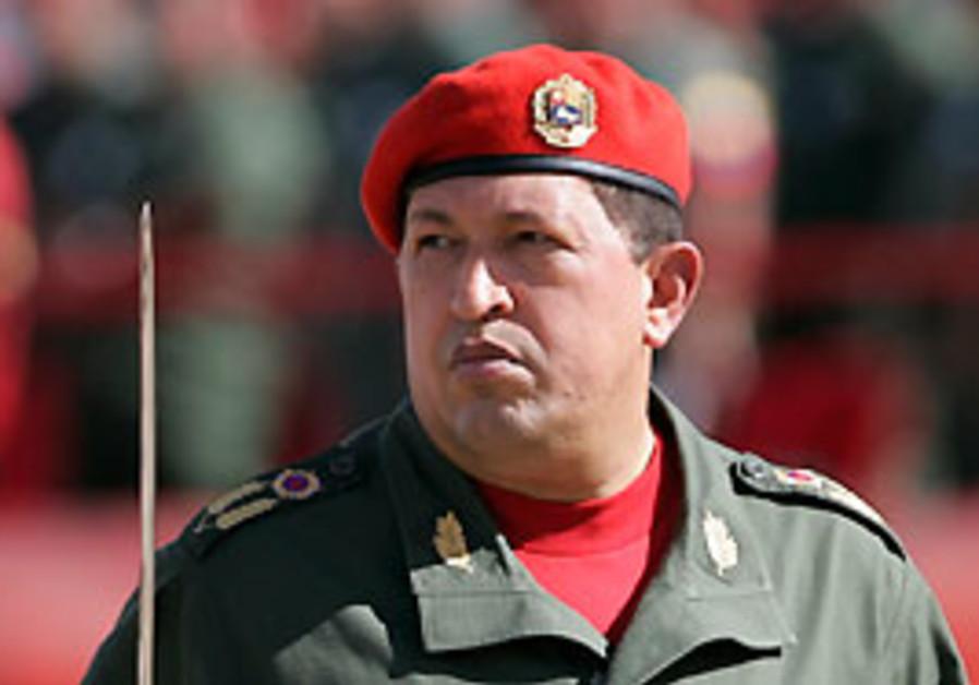 Venezuelan leader Hugo Chavez.