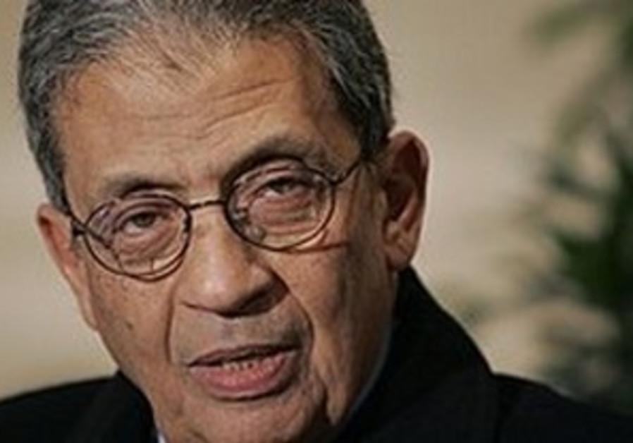 Arab League chief Amr Moussa