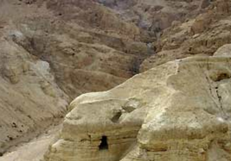 The caves at Qumran.