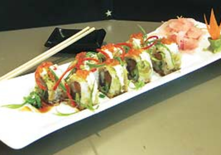 Dragon's Fire special sushi platter.