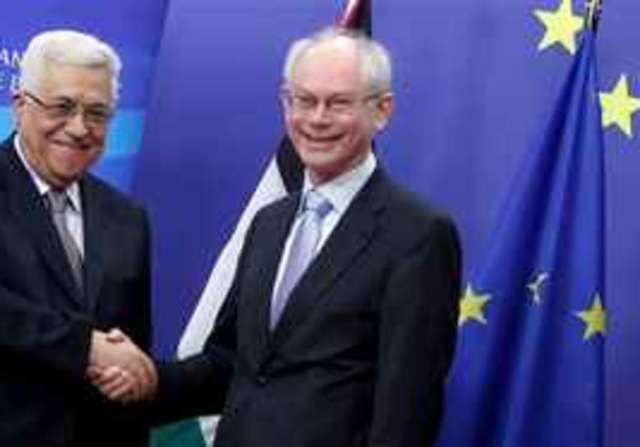 European Council President Herman Van Rompuy, righ