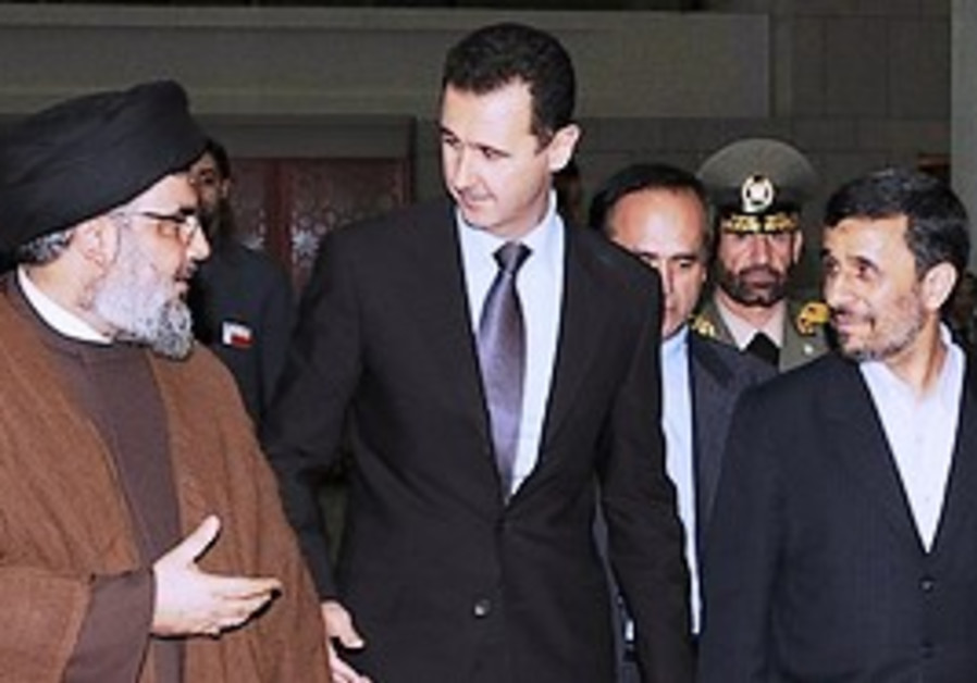 Nasrallah, Assad and Ahmadinejad on Thursday