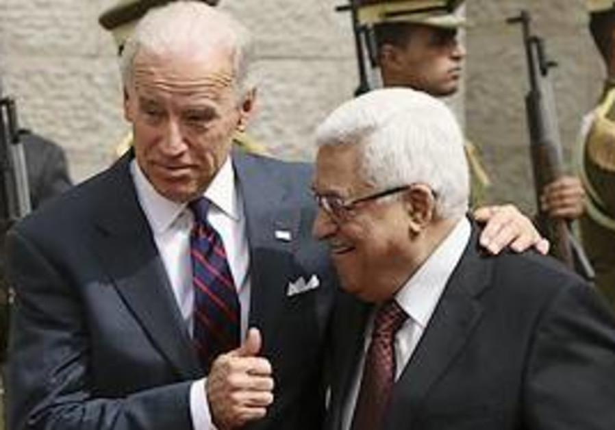 US Vice President Joseph Biden, left, gestures as