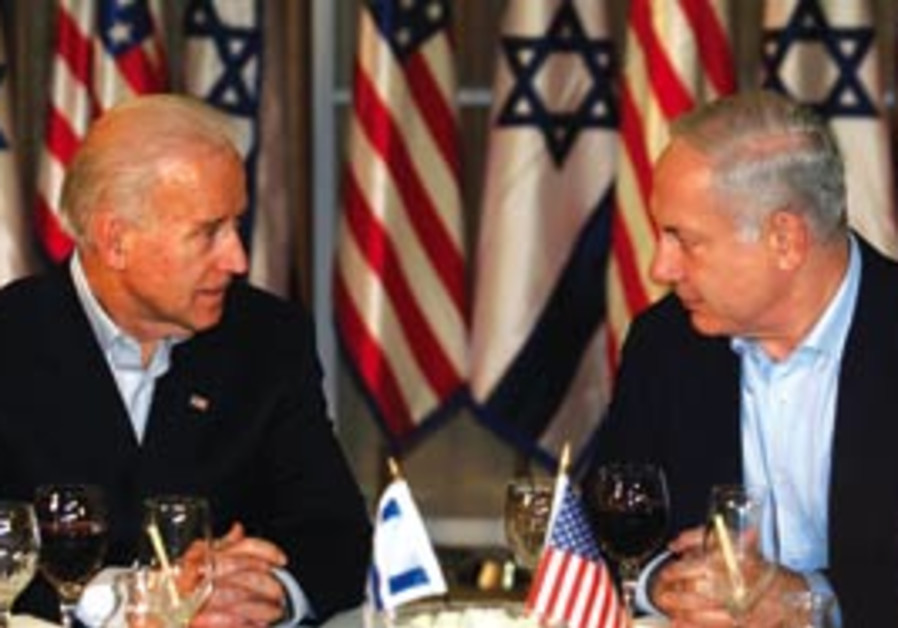 US Vice President Joe Biden (left) and Prime Minis