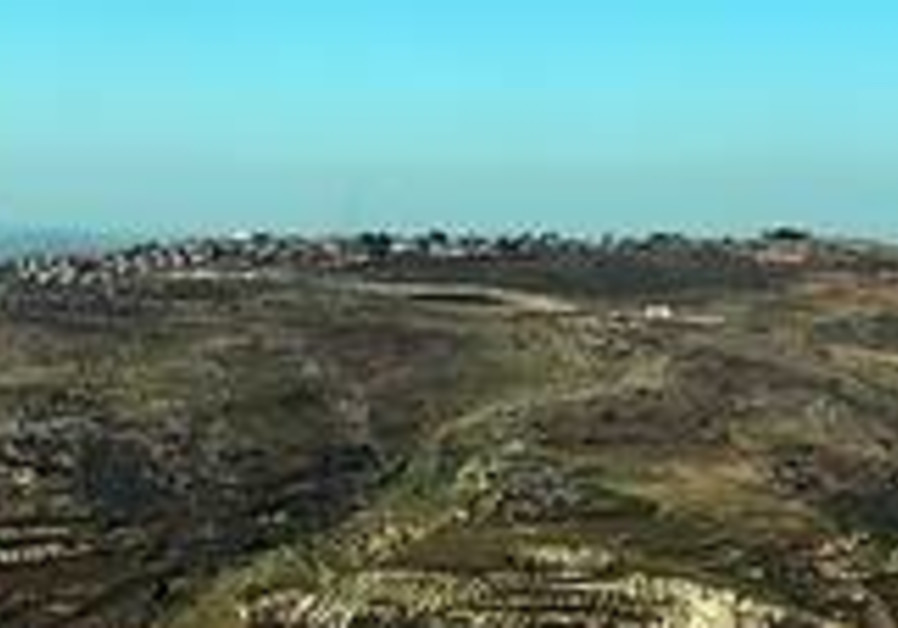 A view of Yitzhar.