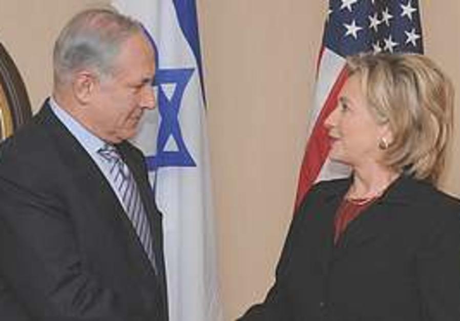 Netanyahu meets Clinton.