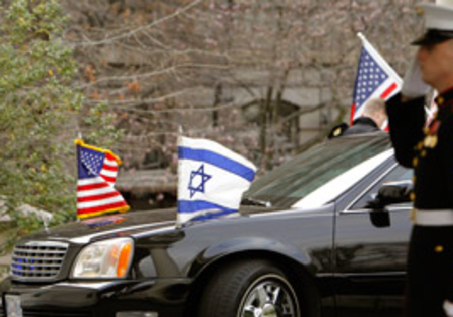 Prime Minister Binyamin Netanyahu arrives in a lim