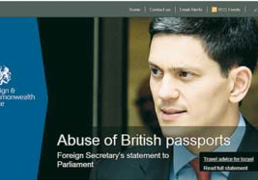 Foreign Office Travel Advisory about Israel