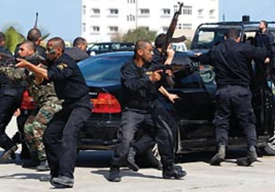 Hamas forces in Gaza City.