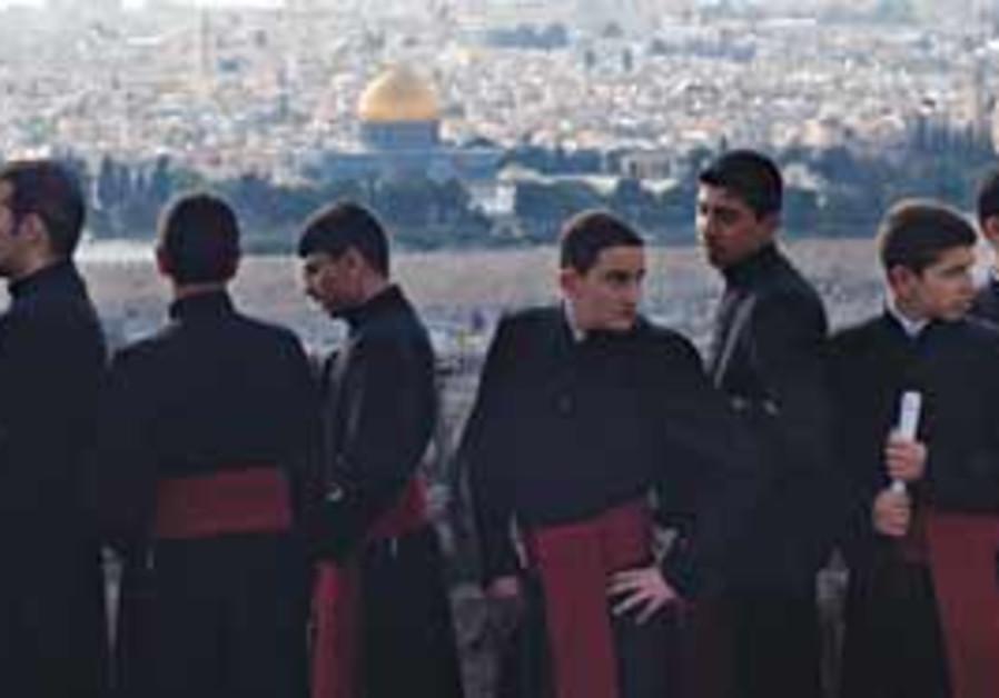 PRIESTHOOD SEMINARY children participate in the tr