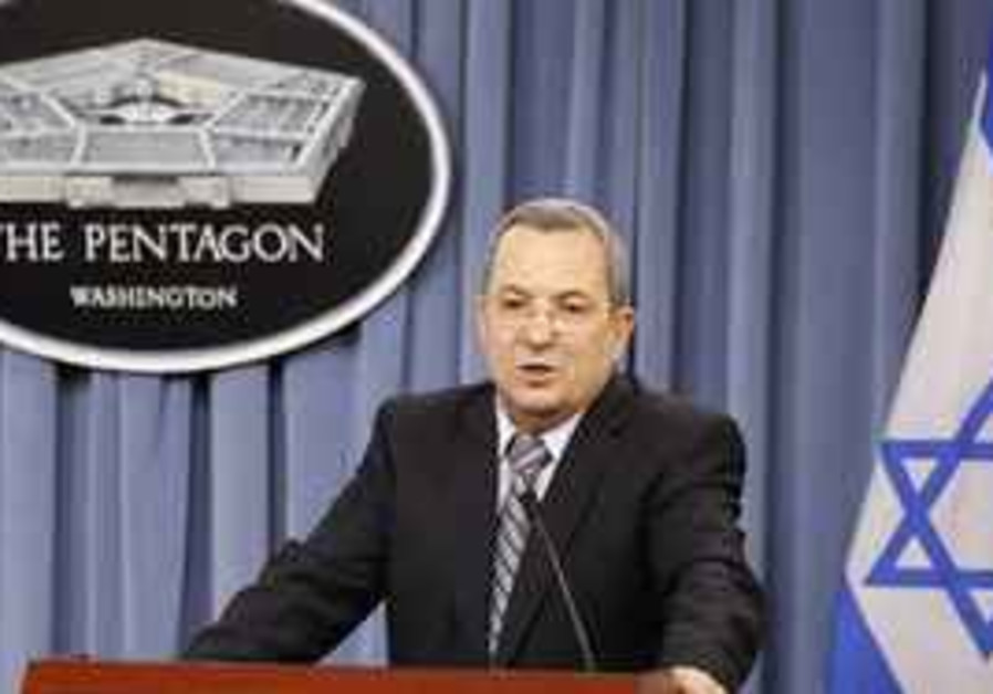 Barak speaks at Pentagon