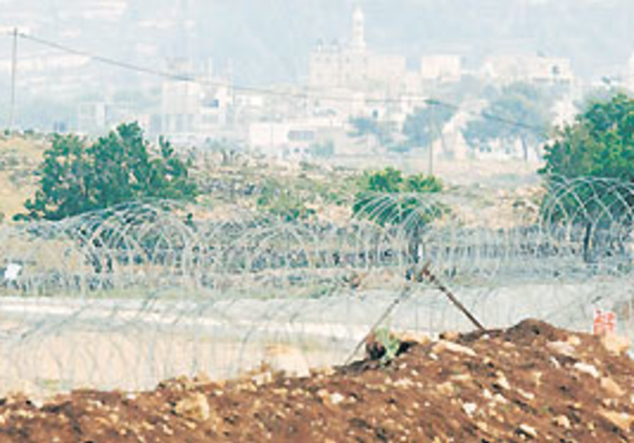 A section of the security barrier near Givat Ze'ev