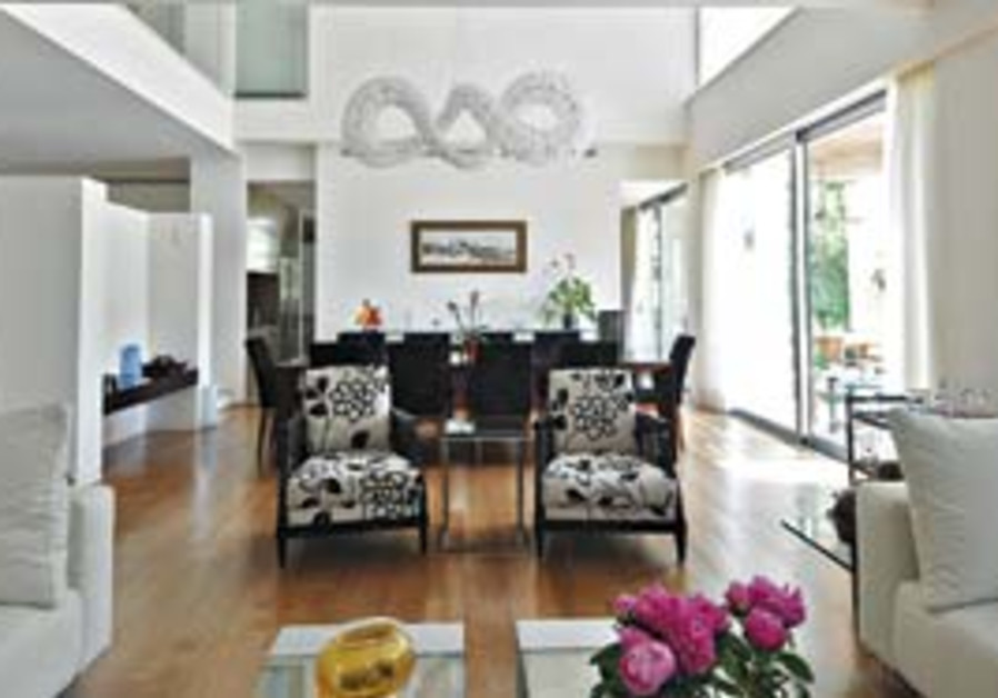 This modern home incorporates many features and id
