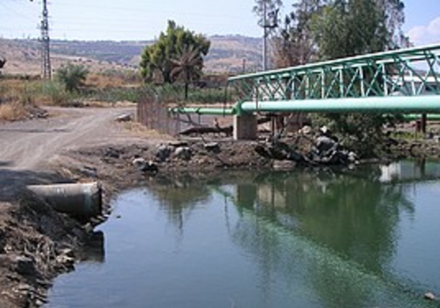The Alumot Dam over the Jordan River.