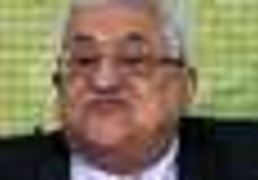 Palestinian President Mahmoud Abbas speaks to lead