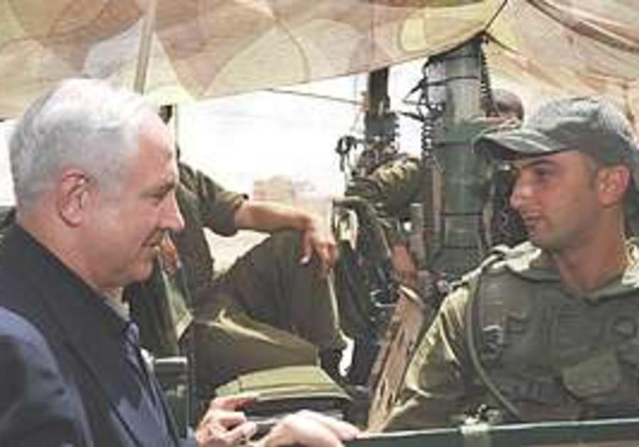 Netanyahu visits Northern Command