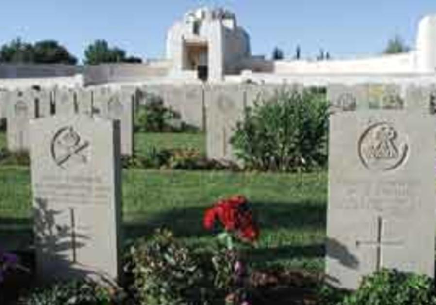 The British War Cemetery on Mount Scopus.