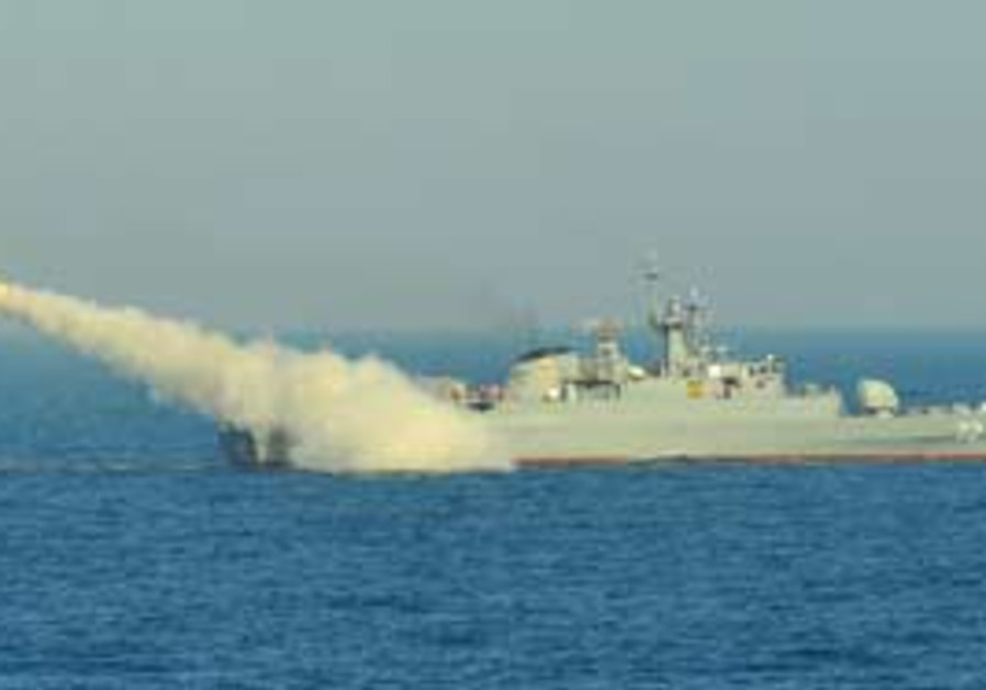Iranian warship IIPA Alborz [file]