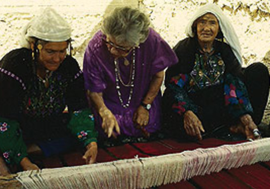 Ruth Dayan (center) with Beduin women.