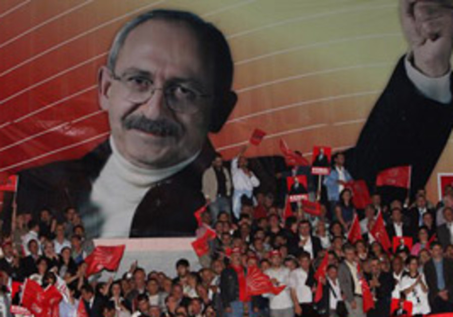 SUPPORTERS OF Kemal Kilicdaroglu, a leading Turkis