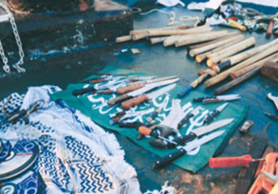 Weapons from 'Mavi Marmara.'