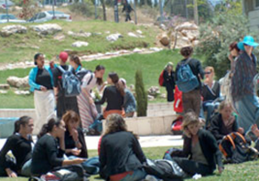 Students at Ariel University Center