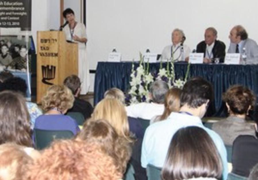 PARTICIPANTS AT Yad Vashem's conference on Holocau