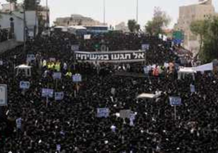 haredi riot in jerusalem over emmanuel school