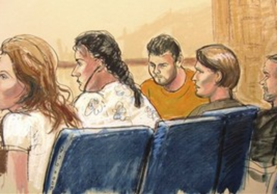 In this courtroom sketch, Anna Chapman, left, Vick