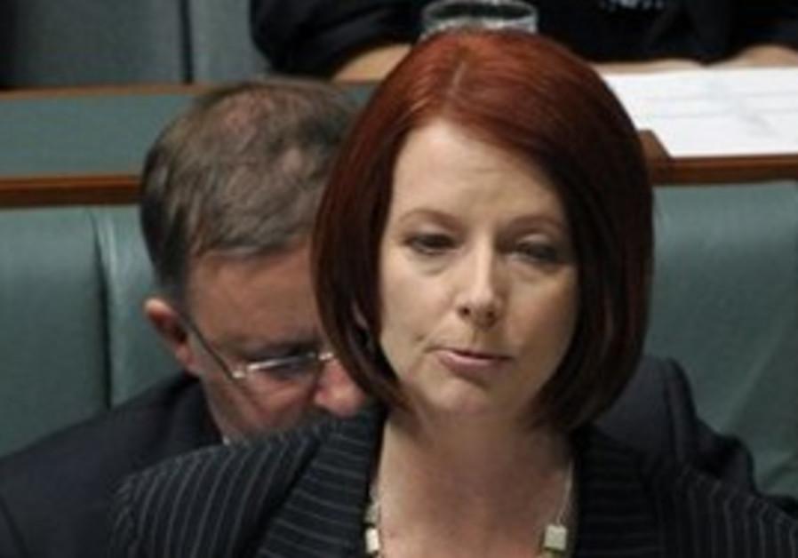 Australia's new Prime Minister Julia Gillard speak