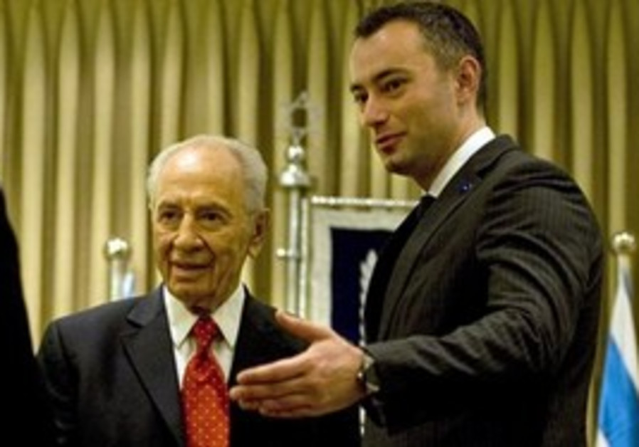 Nikolay Mladenov and Shimon Peres