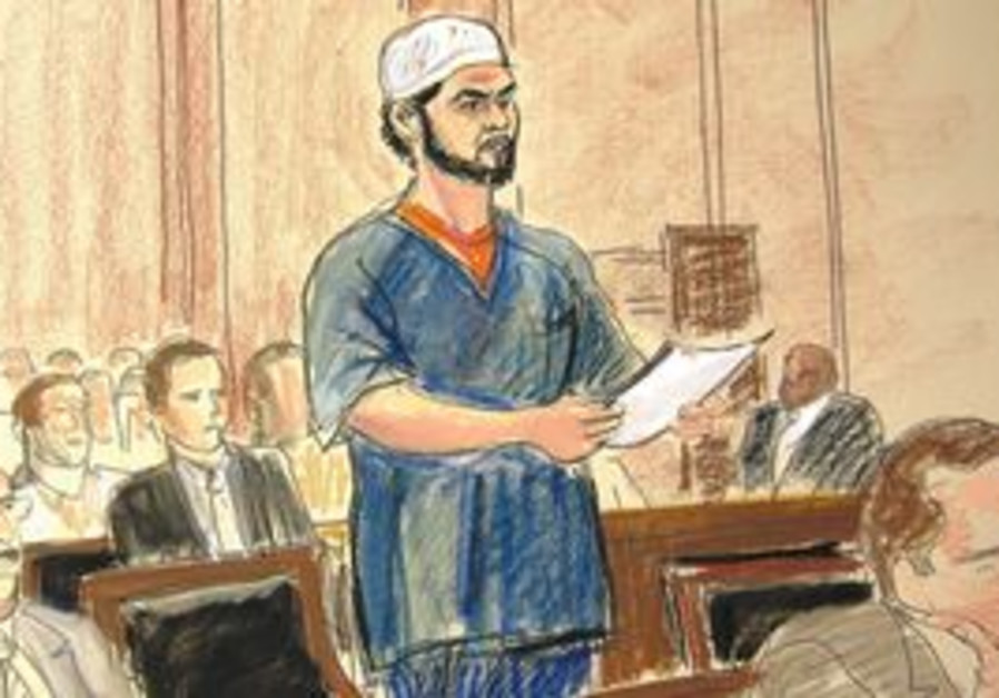 Court sketch from the trial of Times Square bomber