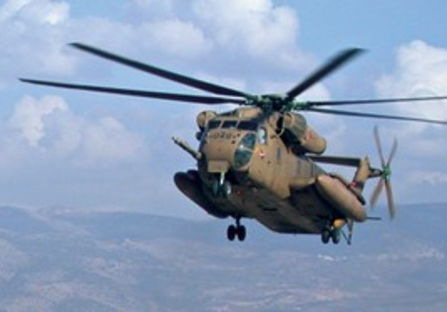 A CH-53 YASOUR heavy helicopter like the one shown here crashed in Romania.