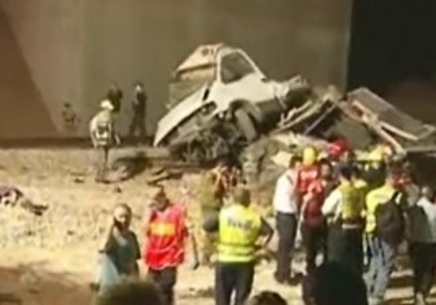 Train crash in Kiryat Gat